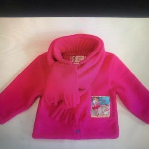 """LOUISE BELAND "" Little Girls Pink Fleece Jacket ."